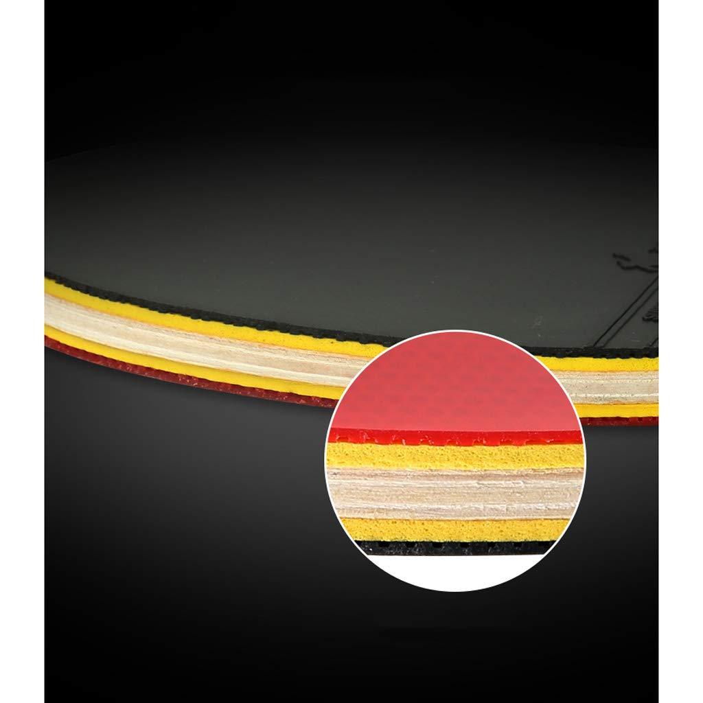 AX- Sporting Goods Sportartikel Tischtennis Set (2 (2 (2 Schläger und 3 Bälle) Massivholzmaterial dunkelblauer Griff Langer Griff  kurzer Griff B07K1J7XJZ Schlger Authentische Garantie 229bc0
