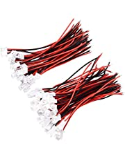 YIXISI 50 Stuks JST XH 2.54mm 2-Pin Mannelijke en Vrouwelijke Micro Connector Plug met 10cm 22AWG Elektrische Draad Siliconen Geïsoleerd