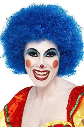 Smiffys Women's Crazy Clown Wig, Blue, One Size -