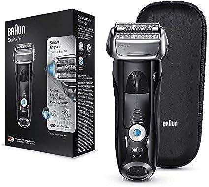 Braun Series 7 7842s - Afeitadora Eléctrica Hombre para Barba, en Seco y Mojado, Recortadora de Precisión Integrada, Máquina de Afeitar Recargable e Inalámbrica con ...