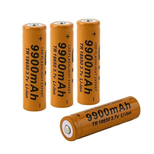 battery aa 4 pcs/set 18650 battery 3 7V 9900mAh rechargeable
