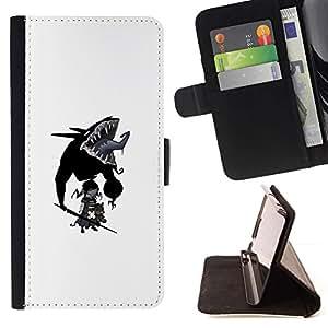 Momo Phone Case / Flip Funda de Cuero Case Cover - Goth bebé;;;;;;;; - Samsung Galaxy J3 GSM-J300