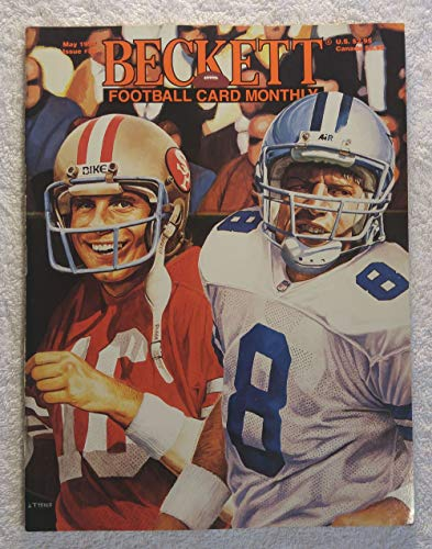 (Joe Montana, Troy Aikman, Joe Namath & Terry Bradshaw - Wraparound Cover - Beckett Football Card Monthly Magazine - #50 - May 1994 )