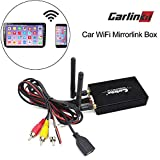 Car WiFi Mirrorlink Box,Smartphone Display iOS Wireless AirPlay MirrorLink for Car/Home Video Audio Miracast DLNA Airplay Screen Mirroring(All Car Models with RCA/AV or HDMI Interface Can Use)