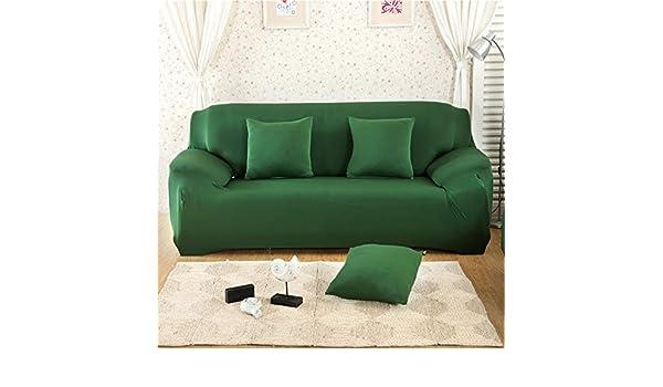 VGUYFUYH Funda De Sofa,Verde Oscuro Elástico Antideslizante ...