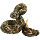 Michael Carr Designs 80057 Western Diamondback Rattlesnake Outdoor Statue, Large