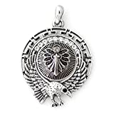 Lovmoment Eagle Shape Pendant and 18MM Snap Button Chunk Charm Jewelry