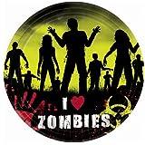 Beware Zombies Halloween Banquet Dinner Plates
