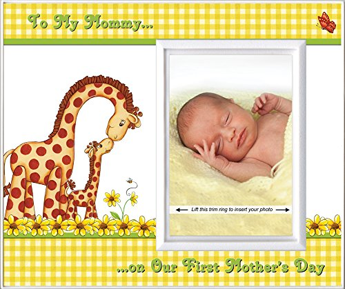 1st Mother's Day Photo Frame Gift | Holds 3.5 x 5 Photo | Affordable Safe Nursery Decor | - Store Vancouver Frame