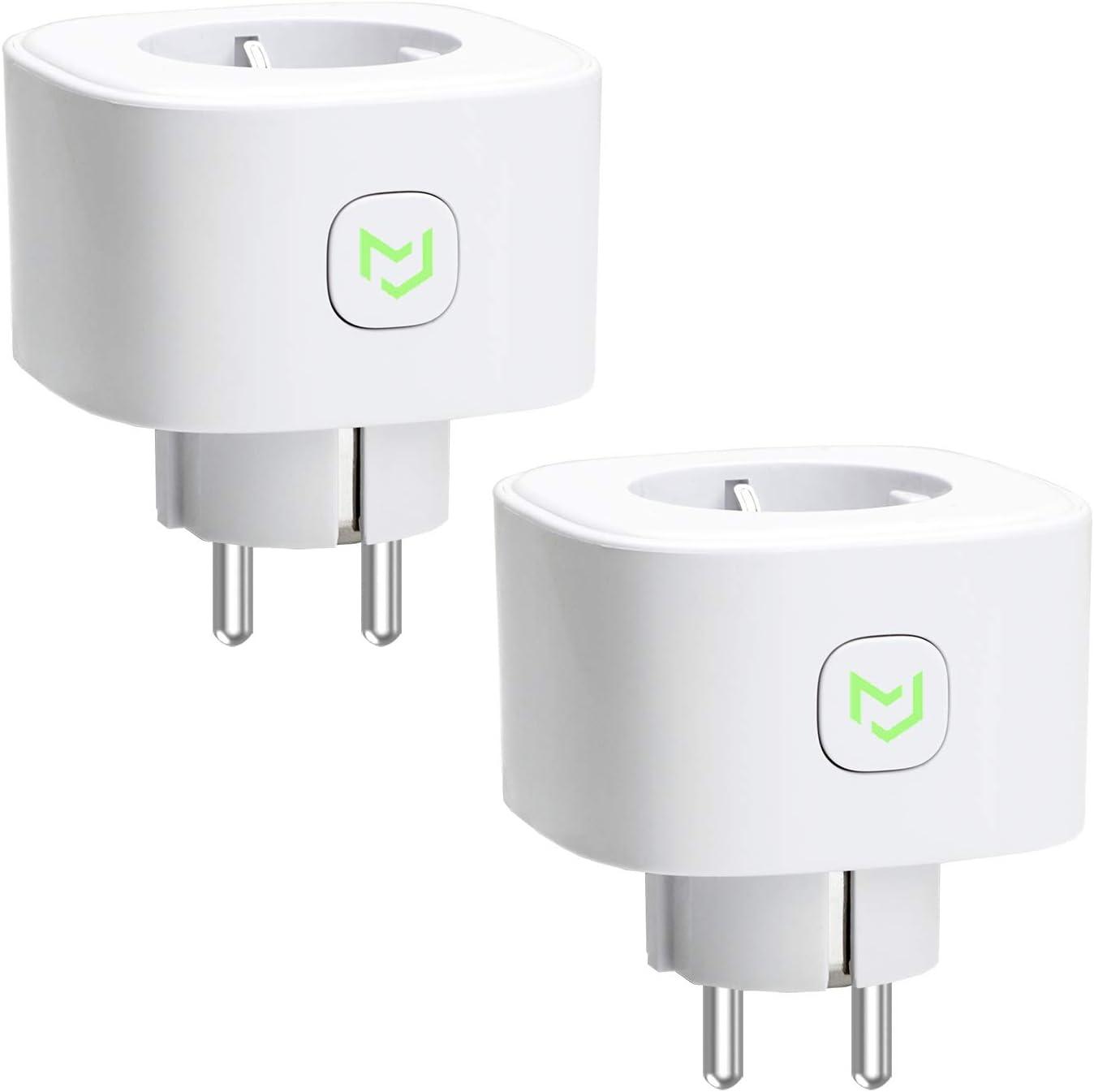 Enchufe Inteligente 16A 3680W, con Control Remoto Meross app. Compatible con Alexa, Google Assistant y SmartThings. Wi-Fi Smart Plug, Modelo MSS210. Paquete de 2
