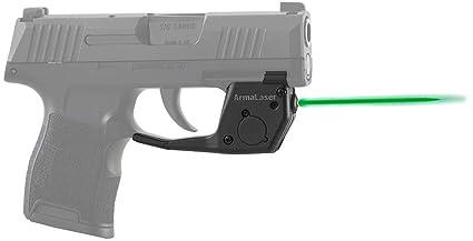 ArmaLaser TR27G Designed for SIG Sauer P365 Ultra Bright Green Laser Sight  Grip Activation