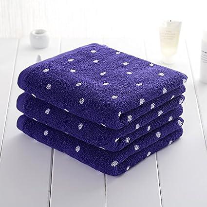 Mano towel-men y las mujeres toalla algodón adulto niños agua absorbente toalla morado