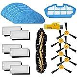 Recambios Repuestos para Cecotec Conga Excellence 990 con 1 Cepillo Principal&6 Cepillo Lateral &6 Filtros& 5 Mopas &1…