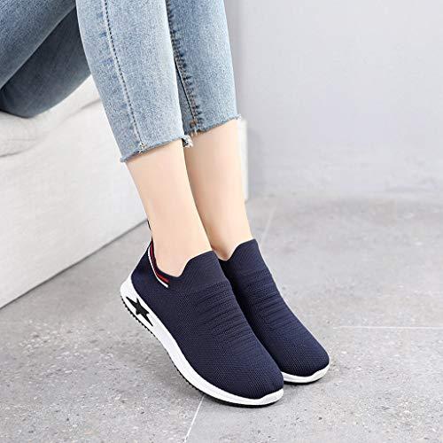 Pour Trail Compétition Bleu De Sneakers Sport Respirant Robemon Foncé Mesh Femmes Running Chaussures Course 7nqZ4fRY