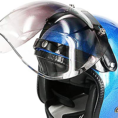 Adapter Flip Up Attachment for Snap Helmet Bubble Shield Visor (Smoke): Automotive