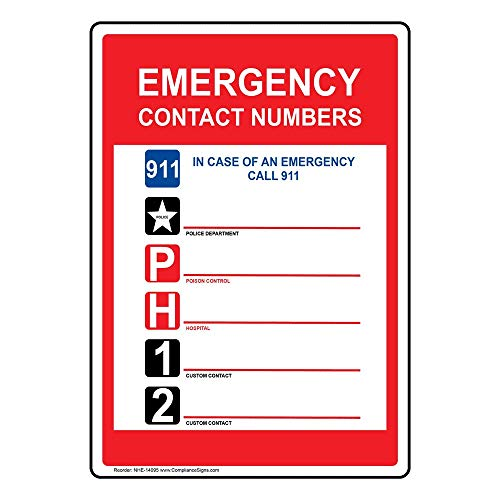 Compliancesigns Vinyl Label 5 X 3 5 In With Emergency