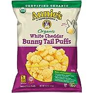 Annie's Organic White Cheddar Bunny Tail Baked Corn Puffs, 4.3 oz