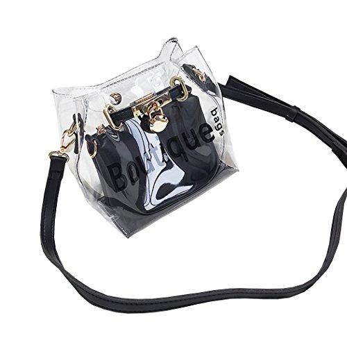 y hombro de y Shoppers Fekete bandolera mano Mujer bolsos clutches de Bolsos Carteras OwI5xqg