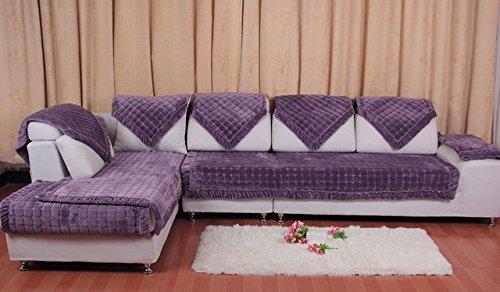 Zoomy far EU Classical Sofa Cover Winter Snow Thick Flannel Plush Sofa Pink,Purple, Couch Cover Antiskid funda Sofa   Sofa cover1, 70x150cm
