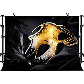 amazon   lfeey 10x8ft gold and black carnival mask