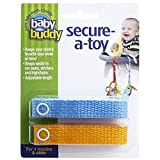 Baby Buddy 2 Piece Secure-A-Toy Safety Strap - Blue Gold
