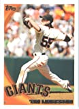 2010 Topps Baseball Card #80 Tim Lincecum San Francisco Giants - Mint Condition - Shipped In Protective ScrewDown Display Case!