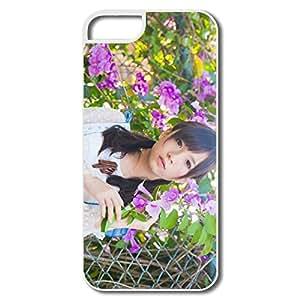 PTCY IPhone 5/5s Custom Funny Girl Flowers