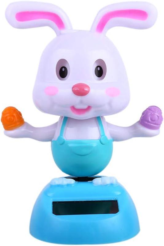 Fun Dancing Rabbit Swing Animal Figure Science Solar Kid Toy Car Desk Decor