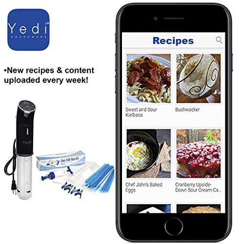 The Total Package Sous Vide, Professional Immersion Circulator, with Endless Recipes and Deluxe Accessory Kit by Yedi Houseware by Yedi Houseware (Image #5)