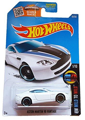 Hot Wheels 2016 HW Mild to Wild Aston Martin V8 Vantage 56/250, White Aston Martin V8 Cars