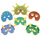 Dinosaur Birthday Party Supplies: 24 Dinosaur Party Masks - Masquerade and Halloween Dinosaur Face Mask - Foam Dinosaur Mask for Kids Themed Party Favors Decorations and Hats - M and M Products Online