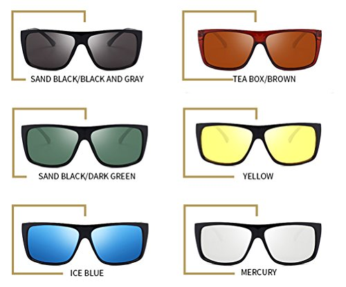 de 100 Memoryee Polarizadas Ligero sol Hombre Wayfarer Polarizado Super Metal Verde Marco UV400 Gafas xppPfIUq
