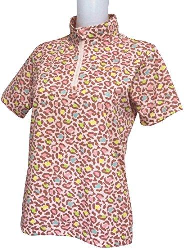 ヒョウ柄半袖ジップハイネックシャツ 2018年春夏モデル