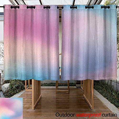 Outdoor Curtain Panel for Patio Pastel Abstract Blurry Colors Composition Sweet Daydream Fantasy Miscellaneous Energy Efficient, Room Darkening 108