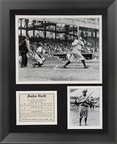 Ruth Babe Framed (Babe Ruth Baseball Legend Framed Print 14 x 17)