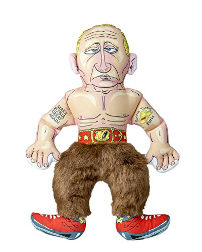 FUZZU Mr. Vladimir Parody Dog Chew Toy with Squeaker - Medium to Large Dog (17