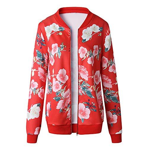 Manica Slim Femminile Print Top Giacche Jacketgiacche Pilot Red Lunga Donna Da Outwear Cerniera Con Autunno Casual Jjhr Jacket Suit g8aZWAW