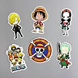 6 Pcs Japanese Anime Cartoon Luffy Nami Funny Sticker Decal For Car Laptop Notebook Backpack Waterproof Kids One piece Stickers Toys