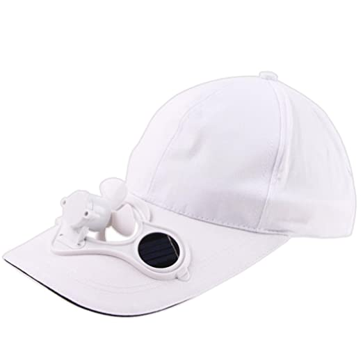 cb839ac29e6 Fiaya Summer Peaked Cap Sports Baseball Hat with Solar Powered Cooling Fan  for Outdoor Activities Camping