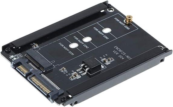 Nrpfell Caja Negra CY B + M Socket 2 M.2 NGFF (SATA) SSD una 2.5 Adaptador SATA para 2230/2242/2260 / 2280Mm SSD M2: Amazon.es: Electrónica