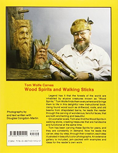 Tom wolfe carves wood spirits and walking sticks schiffer