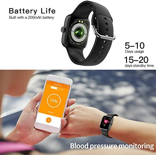Smart Watch for Men Women,Fitness Tracker with 1.54″ Full Touch Color Screen ,IP67 Waterproof Pedometer Smartwatch with Pedometer Heart Rate Monitor Sleep Tracker for Android and iOS Phones 51636f9SikL
