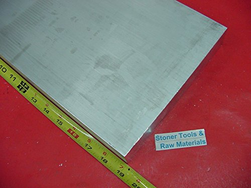 2'' X 8'' ALUMINUM 6061 FLAT BAR 19'' long Solid T6511 2.00'' Plate Mill Stock by Stoner Metals
