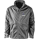 Dunbrooke Apparel NFL Dallas Cowboys Men's 5490Sportsman Waterproof Windbreaker Jacket, Graphite, large