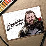 Ned Stark, GoT Valentines Card, Funny Valentines Card, Game Of Thrones Card, Valentines Card Wife