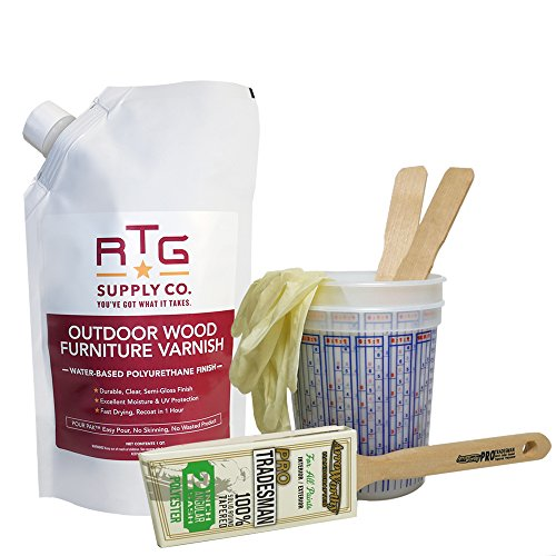 RTG Outdoor Wood Furniture Varnish (Quart Pro Kit)