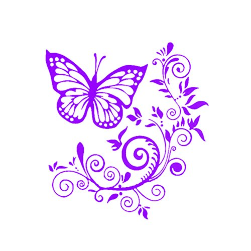 Floralby Butterfly Flower Car Window Laptop Vinyl Sticker Decals Car Truck Decorations