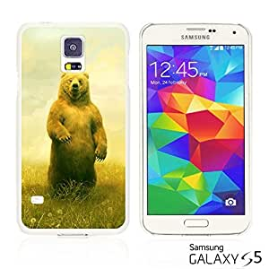 OnlineBestDigital - Cartoon Pattern Hard Back Case for Samsung Galaxy S5 - Yellow Bear