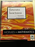 The Mathematics of Social Science 9781878015204