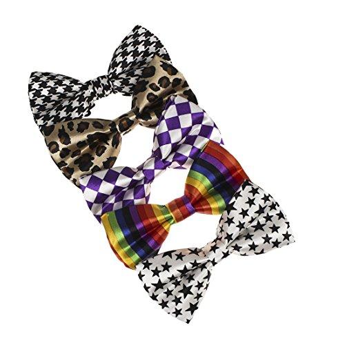 DBF0157 Multicoloured Patterned Pre-Tide Bowties Stylies Microfiber 5 Pack Bow ties By Dan (Halloween 5k Name Ideas)